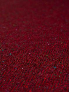 Redcurrant Revelry - Donegal Tweed Herringbone