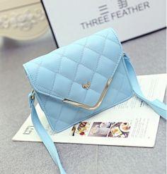 Korean Leisure Trend Envelope Bags Single Shoulder Bag Blue pas cher