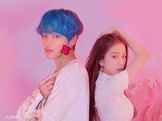 Taehyung x Jisoo Taehyung Fanart, Kim Taehyung, Suspicious Partner Kdrama, Bts Blackpink, Romantic Manga, Bts Girl, Jungkook Aesthetic, Girl Korea, Kpop Couples