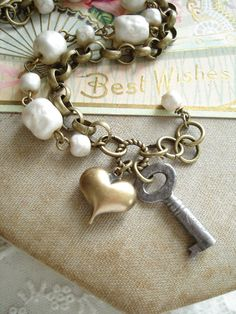 Antique Skeleton Key Bracelet
