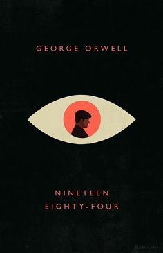 George Orwell - 1984 on Behance Book Cover Art, Book Cover Design, Book Art, Poster Art, Design Poster, Graphic Design, Beautiful Book Covers, Cool Book Covers, Buch Design