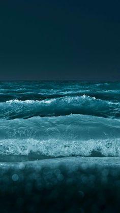 sky and ocean meet at midnight...