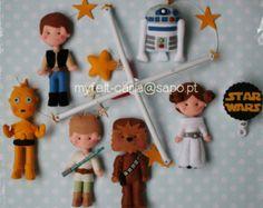 Nursery Decor,Baby Mobile, Baby Crib Mobile, Nursery Baby Decor, Baby Furniture, Hanging, Star Wars Mobile, Star Wars Felt Dolls Handmade 2