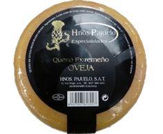 Pajuelo || QUESO EXTREMEÑO DE OVEJA    Este queso de Oveja graso, hará las delicias del mejor paladar, es un queso, que como todos los quesos de Oveja, presenta cuerpo y carácter con una gran personalidad. Piezas de 700/750 g.  Caja de 6 unidades.