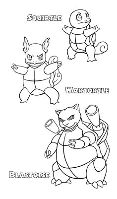 Pokemon Squirtle Coloring Pages