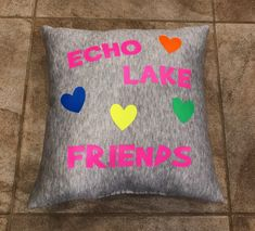 Camp Gifts, Echo Lake, Throw Pillows, Camping Gifts, Toss Pillows, Decorative Pillows, Decor Pillows, Scatter Cushions