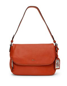 dbe30907cc Lauren Ralph Lauren Harrington Shoulder Bag-ORANGE-One Size Orange Bag