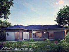 One Storey House, Shed Design, House Design, Architecture, House Styles, Outdoor Decor, Naples, Villas, House Ideas