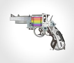 A Thursday in July calls for something a bit fun, a moment of summertime ease if you will. We just came across The Creative Gun by Mark Fitz and thought this could be a nice image for everyone to pass around. Good work from the Dublin, Ireland artist