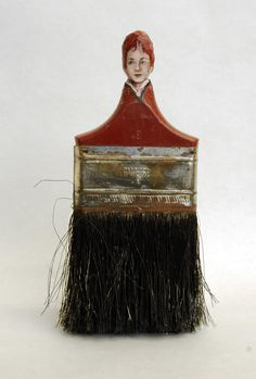 Portraits of Women Painted on the Handles of Old Paint Brushes by Rebecca Szeto | Colossal