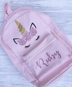 Unicorn Rucksack-Personalised Backpack-Children's Backpack-Unicorn Book bag-Personalized Backpack- School Bag-School Rucksack
