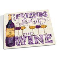 Personalized Wine Cutting Board or Melamine Tray Good Friends Deserve Great Wine art © Tara Reed Designs #wine