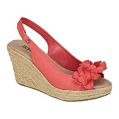 Women's Iris Flower Slingback Wedge Sandal - Coral- Bongo  Bought these the other week, they are so comfy not to mention extremely cute!