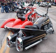 """ and the Trike beside it! Honda Motorcycles, Vintage Motorcycles, Custom Motorcycles, Cars And Motorcycles, Honda Valkyrie, Side Car, Custom Street Bikes, Bagger Motorcycle, Custom Trikes"