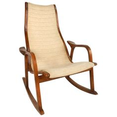Yngve Ekstrom Style Rocking Chair | From a unique collection of antique and modern rocking chairs at http://www.1stdibs.com/furniture/seating/rocking-chairs/