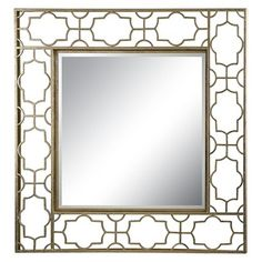 Lazy Susan 35 in. Gold Mirror