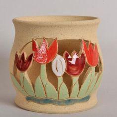 Tealight Holder Quirky Fish - Purrfect Ceramics