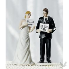 Wedding Cake Topper - Read My Sign