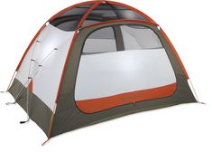 REI Co-op Base Camp 6 Tent - super tough construction, but not easy to set up alone.  20 pounds.