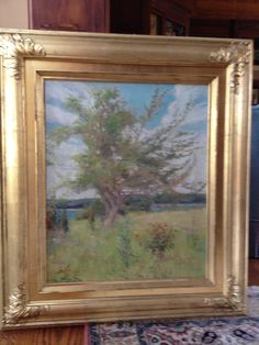 Emma Eilers. Majestic Tree. Oil on canvas. Private Collection. This painting has been restored and reframed with a gold leaf frame and nameplate.