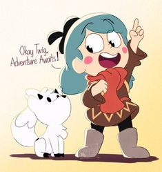 Cartoon Shows, Anime Shows, Blue Haired Girl, Avatar, Dibujos Cute, Cartoon Crossovers, Human Art, Owl House, Chibi