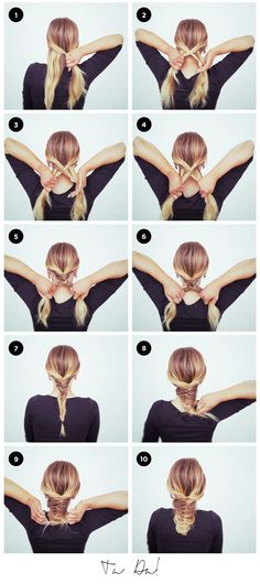 Step-by-step guide to master the Fishtail Braid