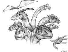 dinosaur drawings | This is a dinosaur drawing that a friend asked me to do.