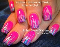 Robin Moses Nail Art: Easy Neon Pink Summer Nails Up And Perfect in Fun Summer Nail Designs