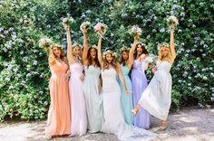 robes bridesmaids chic by Donna Morgan. via Trendy Wedding le blog