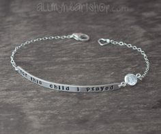 Push Present Jewelry  For This Child I Prayed by allmyheartshop, $42.00