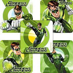 Green Lantern Party Supplies, Green Lantern Large Stickers
