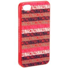 Marc by Marc Jacobs 4G Linear Logo M6121045 iPhone Cover,Coral Red Multi,One Size $38.00