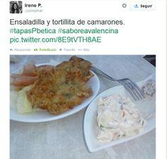 Foto Twitter de @Sirepmar #SaboreaValencina #TapasPbetica