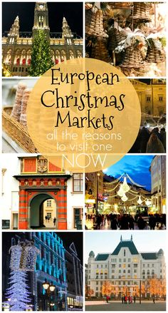 European Christmas Markets - When it comes to Christmas markets, Europe does it best! Get into the spirit with a trip to one of these festive and whimsical European cities. Best Christmas Markets, Christmas Markets Europe, Christmas Travel, Holiday Travel, Christmas Time, Travel Info, Travel Guide, Travel Ideas, Best Places To Travel