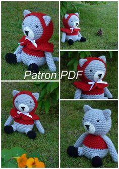 Patron peluche Chat peron Rouge  au crochet (Tuto doudou chat)