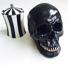 ANY COLOR Life Size Resin Human Skull Decor / Gold Teeth /