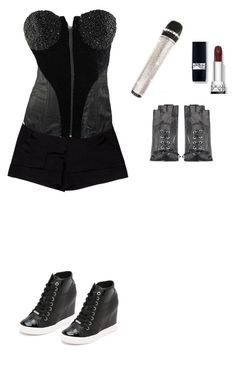 """""""Untitled #1810"""" by mina1924 ❤ liked on Polyvore featuring Diane Von Furstenberg, Maison Fabre and DKNY"""