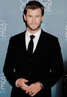 Chris Hemsworth. I MEAN REALLY!