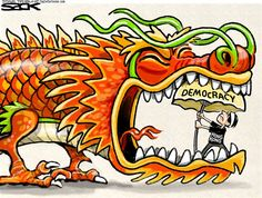 HONG KONG | Oct/21/14 Steve Sack - The Minneapolis Star Tribune - Hong Kong Protesters - English - Hong Kong, protest, demonstration, democracy