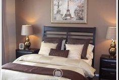 model home dream room bedroom brown paris