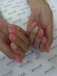 pink with gold accent