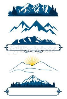 graphic mountain tattoo - Google Search