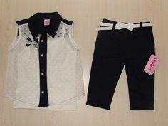 Nellino Gömlek Kaprili Kız Takım - Ecrin Çocuk & İç Giyim
