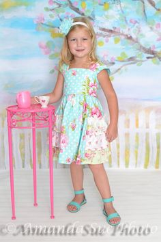 girls ruffled tea dress by SoSoHippo on Etsy
