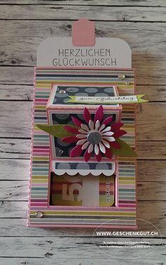 Ziehkarte Ziehbox Geschenkkarte Geldgeschenk Gutschein Karte Geburtstag