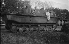 German tracked amphibious vehicle LWS.