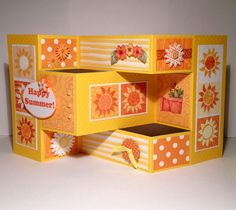 Happy Summer Tri-fold Card - Scrapbook.com