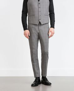 Image 1 of CHECKED TROUSERS from Zara