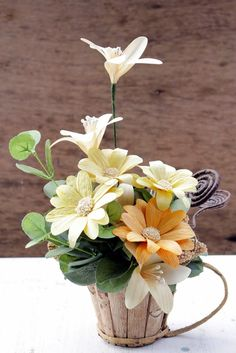 DIY: How To Make a Daisy Flower Using Dried Cornhusk | Reduce. Reuse. Recycle. Replenish. Restore.