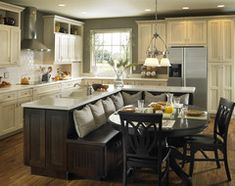 Extraordinary Remodel kitchen island design,Small kitchen cabinets lowes and Zillow kitchen remodel. Home Interior, Kitchen Interior, New Kitchen, Interior Design, Kitchen Ideas, Kitchen Nook, Kitchen Dining, Awesome Kitchen, Kitchen Banquette